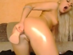 Russian Blonde Babe Squirts HD