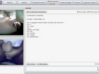 OMEGLE #12 :Cum while She was fingering her shaved  pussy