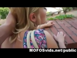 Hot blonde crazy public fuck for money free