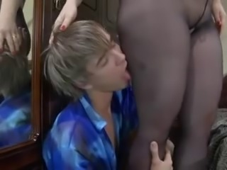 nylons mature creampie from boy
