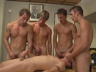 Teen Gets Gangbanged By 4 Sexy Guys