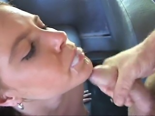 A blowjob in a car