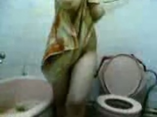 Horny Bitch In Bathroom 1