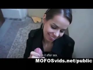 Sweet Czech brunette hot fuck free