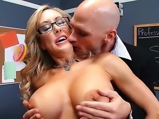 Mature Brandi Love gets seduced by horny boss Johnny Sins and deep penetrated