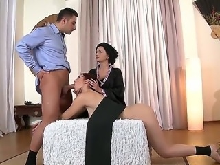 Ivana Sugar along with hottie Mira Sunset are having intense pleasure sharing...