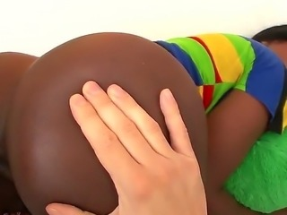 Watch as lovely young Janea Jolie, a true Nubian Goddess, has her...