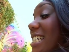 Hot ebony Kapri Styles seduces Mike Adriano with her bubble butt and juicy tits
