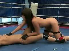 Delicious girls Nilla and Rosee in the domination lesbian fighting scene