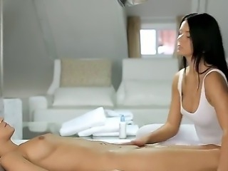 Addison wants to relax, so she went to her masseuse, Silvie, because she can...