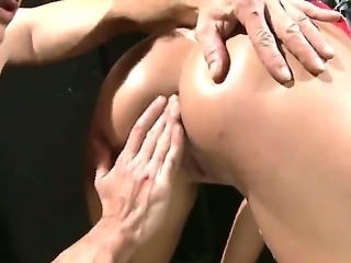 Awesome and hardcore BDSM scene with a horny babe with a shaved pussy named...