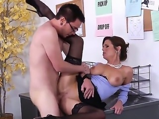 Dane Cross could not escape the sexy charms of Veronica Avluv, as she sucks...