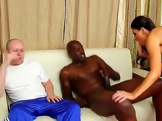 Just beautiful brunette horny India Summer pulls down Lex Steeles pants and...