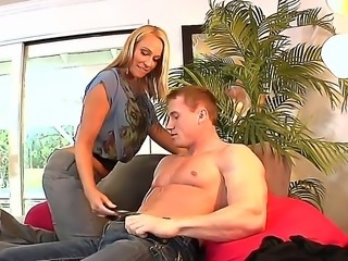Blonde milf Melanie Monroe adores young members! She is doing the hottest...
