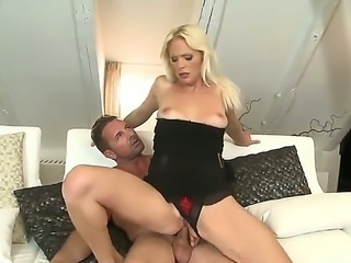 Marvelous and amazing whore Kathy Anderson sucking a big and juicy cock and...