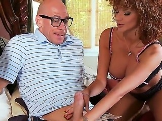 Johnny Sins enjoys having milf Joslyn James sucking and fucking his hard cock