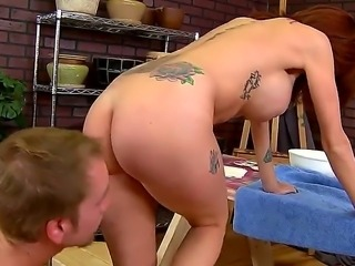 This pottery store is very popular among handsome boys. Joslyn James is...