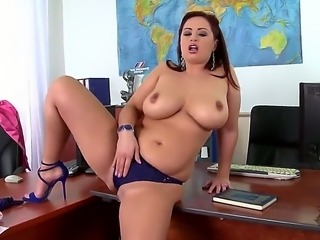 Busty teacher Sirale gets horny and begins masturbating in the class