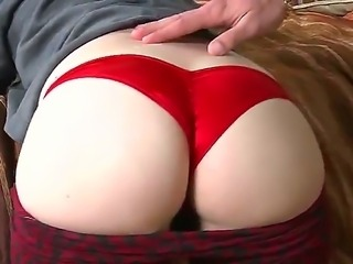 Big butt hottie Kandy Rainz likes when Jmac strokes her white lovely ass and...