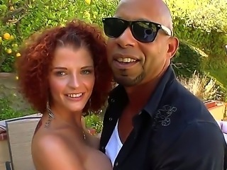 Curly haired and crazy hot redhead Joslyn James got a monstrous black dick today