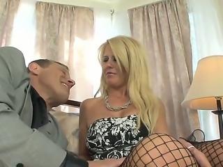 Blonde whore Grace Evangeline is seduced
