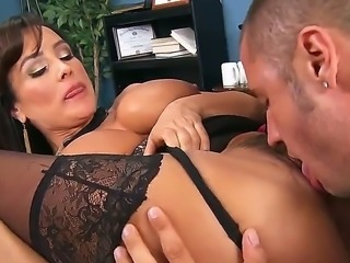 Lisa Ann is in trouble. She caused a car accident, and wants to settle out of...