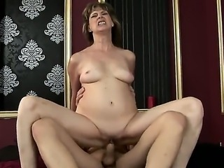 An old lady Judyt dreams to be fucked in hardcore mode, when her ill husband...
