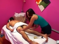 Exotic looking long haired asian brunette Gina with sexy body and juicy...