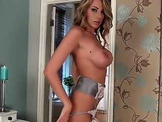 Hot and sexy girl Danielle Maye got her tight slender body in extra hot...