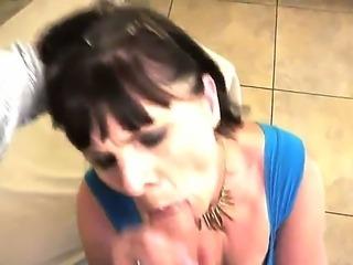 Mature neighborhood slut Margo T. enjoys the taste of young and powerful dick