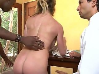 Naughty chick Gabriel Dalessandro making her husband Jon Jon to watch her...