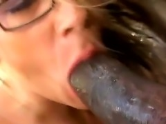 Hugecocked ebony gangsta seduces this nasty spectacled white milf Sunny Day...