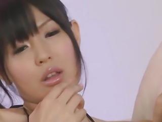 An asian blowjob from Nozomi Koizumi for three guys