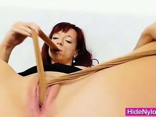 Twat sexing in addition to nylon panty-hose