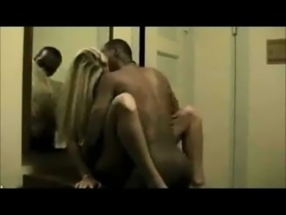 Blonde wife with her black lover free