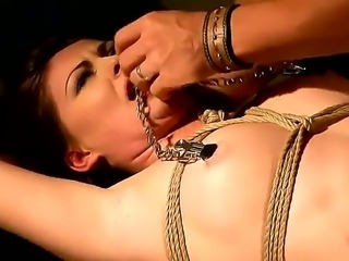Naughty slave brunette Safira White must be given a hard bdsm punishment for...