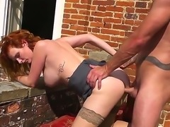 Cock addicted redhead cougar Tarra White with big juicy tits and hot body in...
