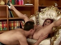 Horny mature babe with big tits Lupita rides cock like a real pornstar