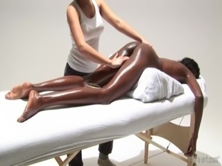 massaging this sexy ebony free