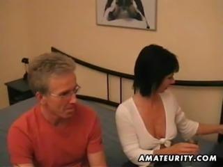 Amateur Milf sucks and fucks a pierced cock at home free