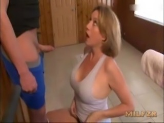 Mom gives a handjob to pervert son free