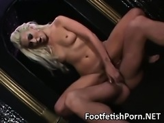 Long blonde babe hardcore sex