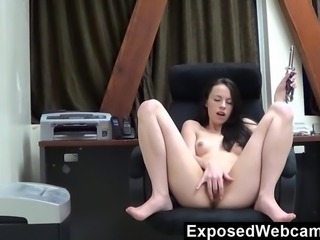 My Intern From Last Summer On Webcam After Works