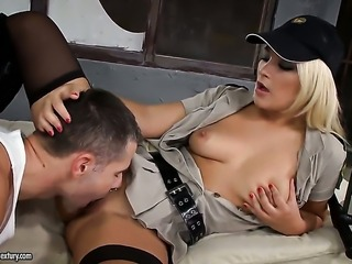 Blonde Lana S is ready to spend hours with dudes ram rod in her mouth