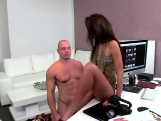 European casting agent gets her wet pussy eaten out