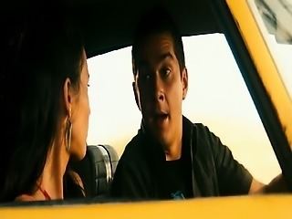 Megan Fox looking hot in the car and love scene. Then Megan