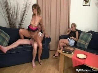 She rides her son in law cock free