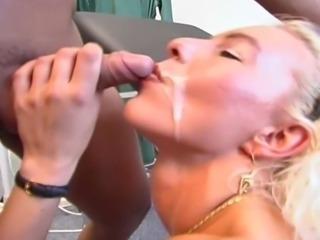 Hot blonde in weird hospital sex