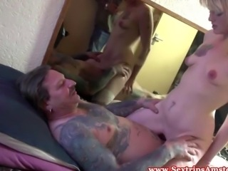Blonde euro hooker rides tourists cock