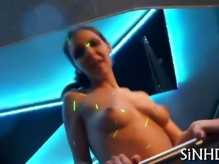 Charming babes are sharing passionate kisses and pussies